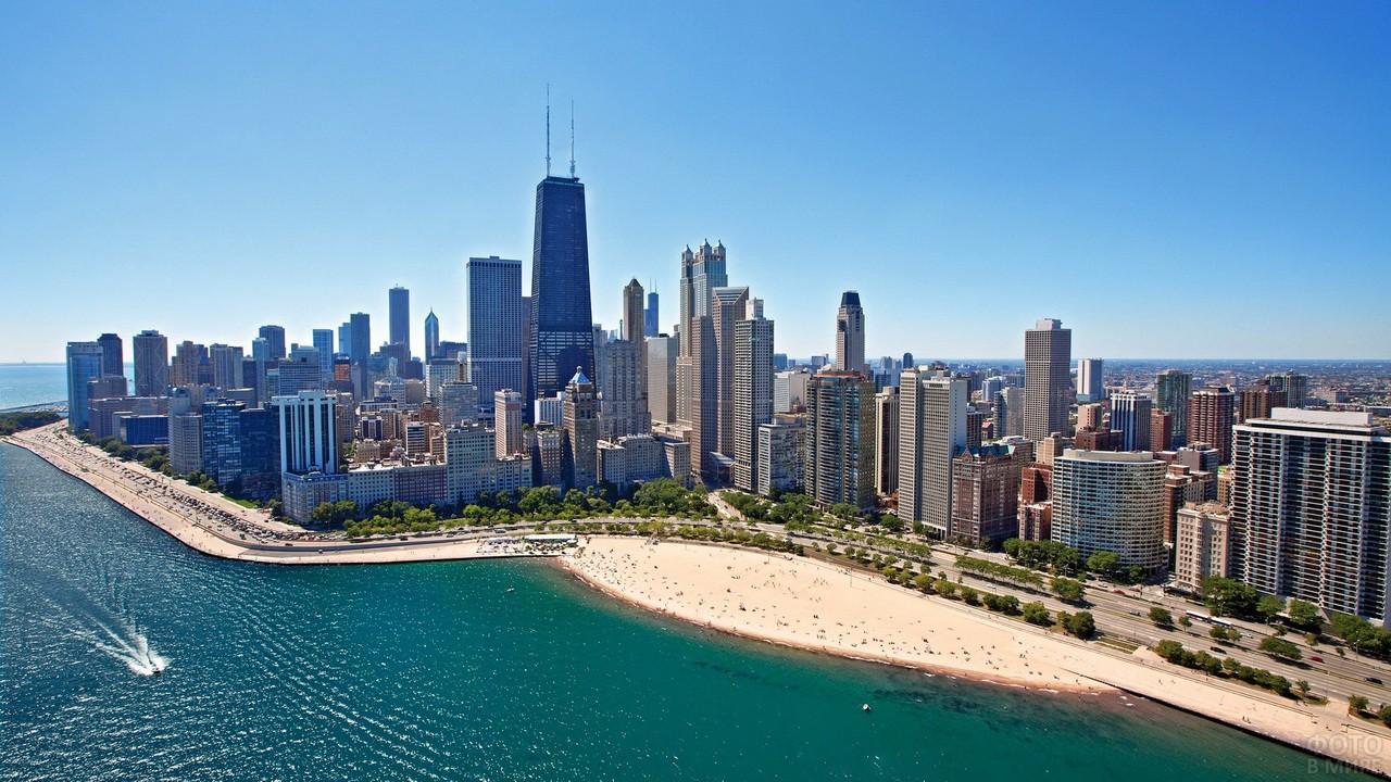 Городской пляж в Чикаго