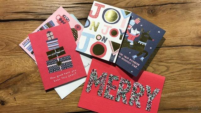 Коллекция современных открыток к Рождеству