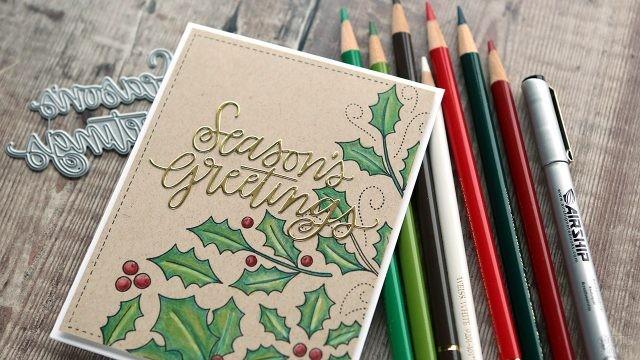 Мультиконфессиональная поздравительная открытка среди цветных карандашей