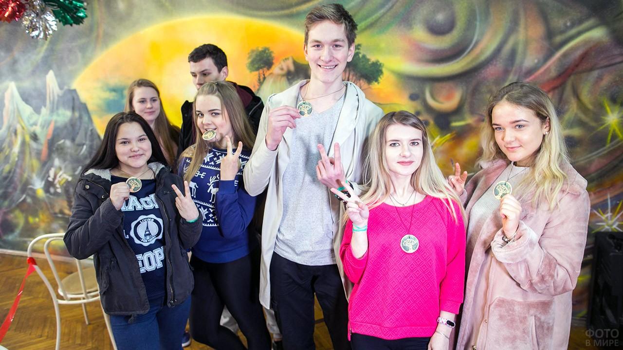 Студенты с медалями в Татьянин день