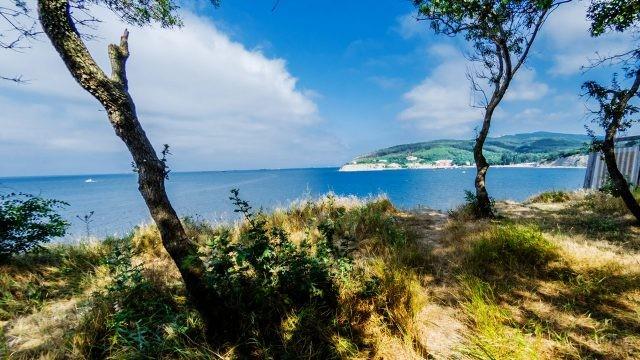 Тропинка с холма к морю