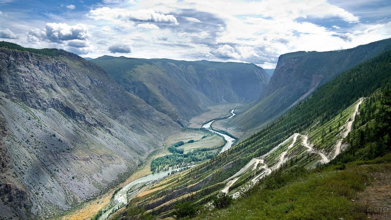 Река Чулымшан и перевал Кату-Ярык