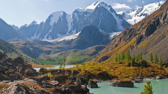 Шавлинское озеро в горах Алтая