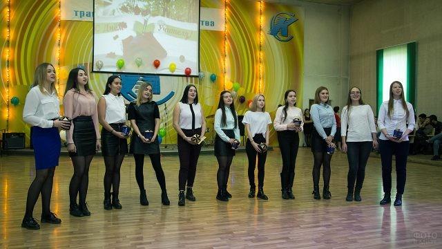 Поздравление с Днём учителя в иркутском колледже