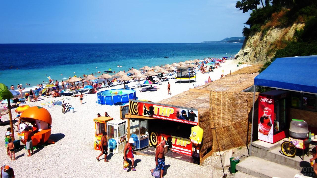 Тир и развлечения на Центральном пляже