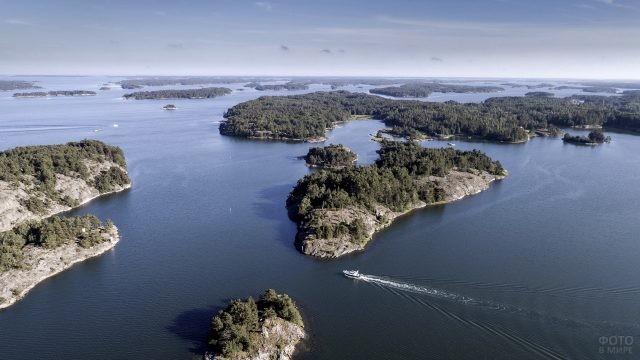 Аландские острова в Балтийском море