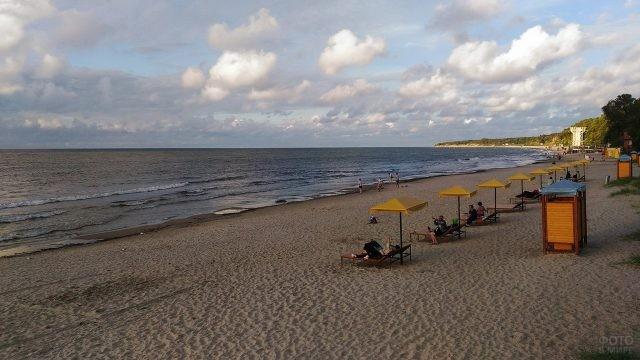 Пионерский пляж Балтийского моря