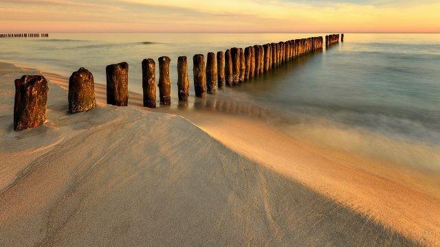 Столбики на побережье Балтийского моря