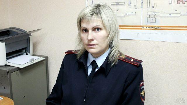 Женщина-майор старший участковый