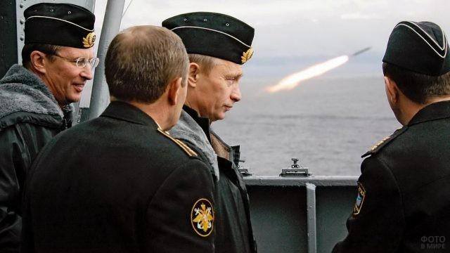 Владимир Путин в форме моряка