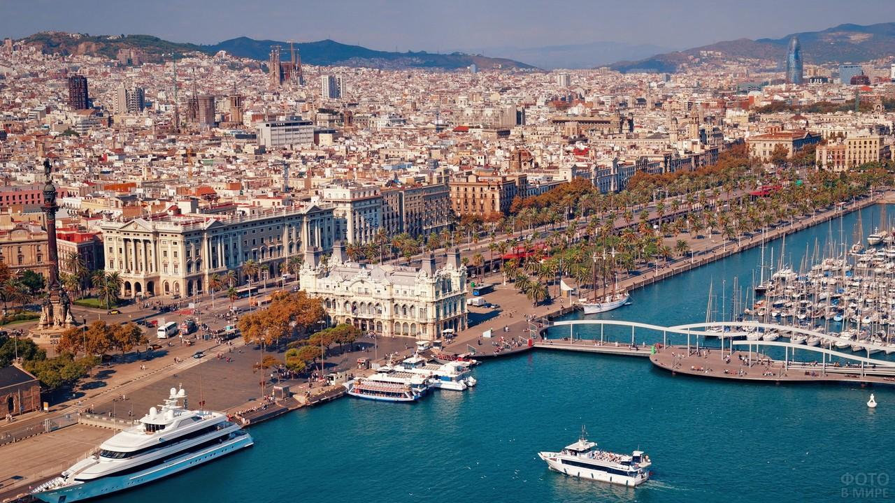 Барселона на берегу Средиземного моря