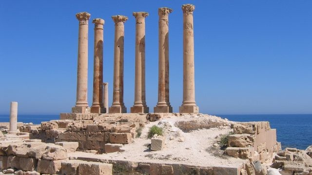 Исторические руины города Сабрата в Ливии