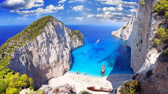 Остров Закинтос в Греции