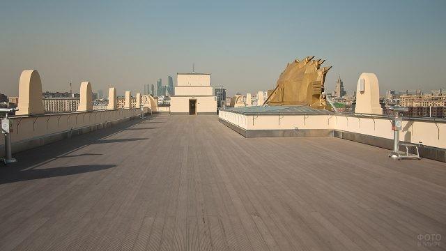 Смотровая площадка на крыше музея Парка Горького