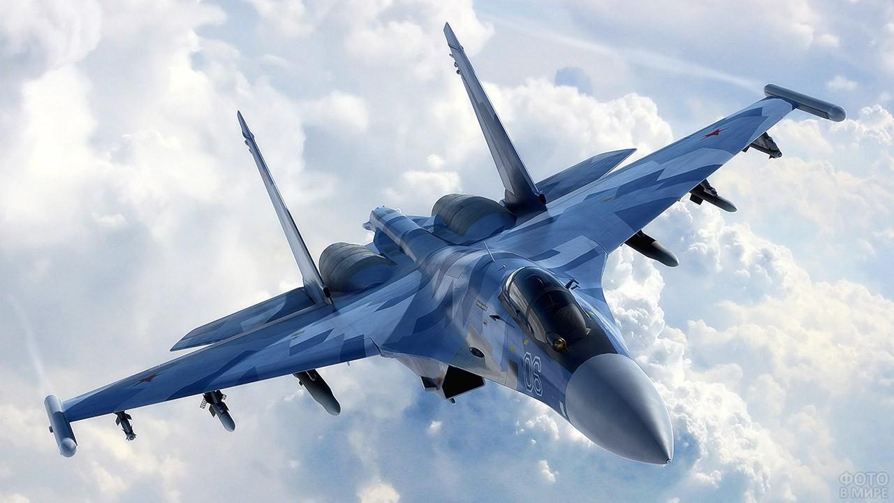 Су-35 над облаками