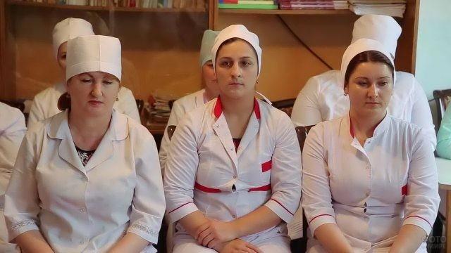 Медсёстры на планёрке