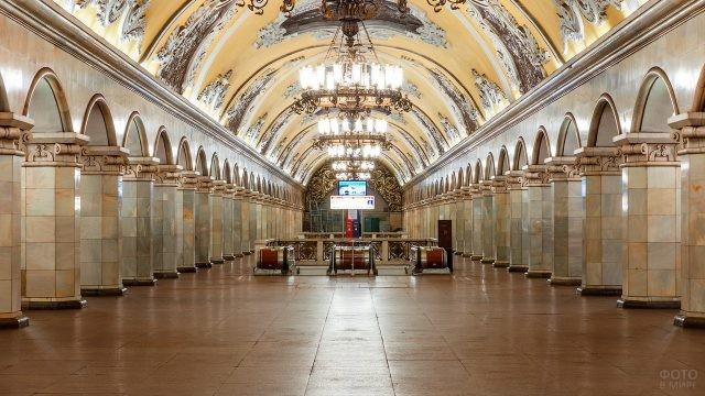Комсомольская станция в Московском метро