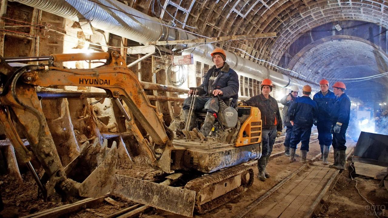 Строительство подземного метро