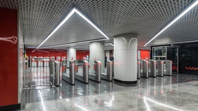 Турникет на Минской станции