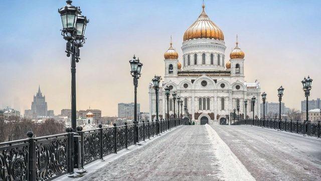 Зимний вид с Патриаршего моста