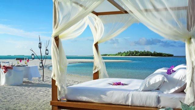 Романтическая обстановка на пляже