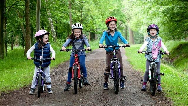 Дети на дороге в парке