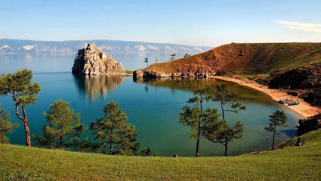 Байкальский пейзаж в Сибири