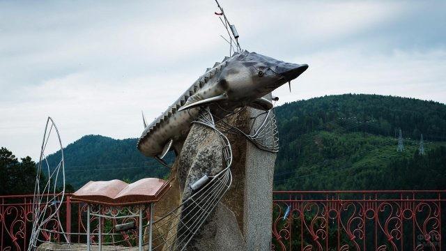 Памятник Царь-рыбе в Красноярском крае
