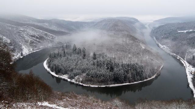 Сибирская природа в тумане