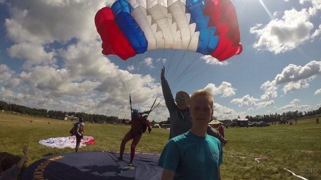 Слёт парашютистов на соревнованиях