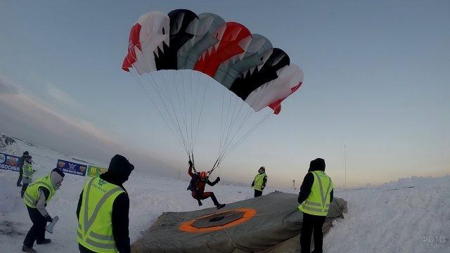 Спортивные соревнования парашютистов