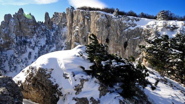 Гора Ай-Петри зимой