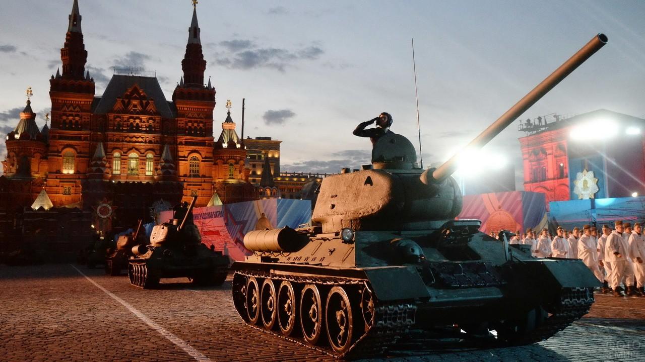 Танки Т-34 на Красной площади