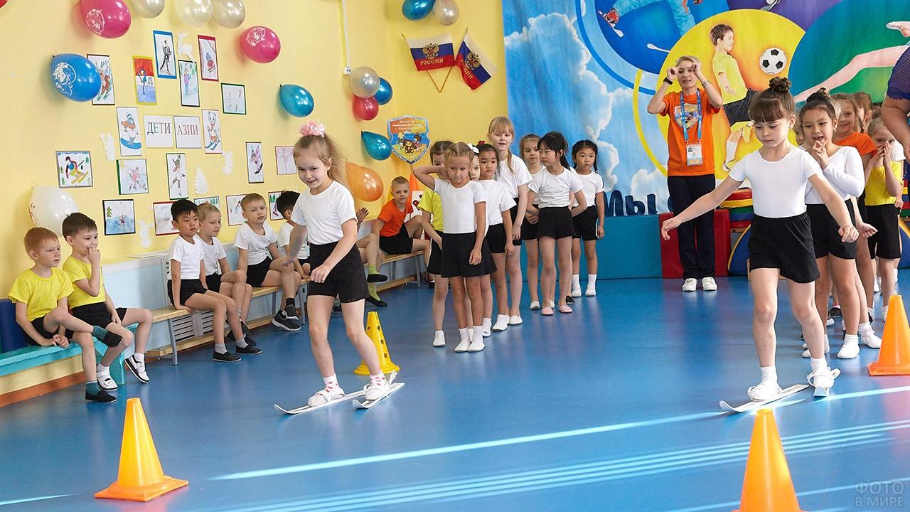 Весёлые старты в День воспитателя в детском саду