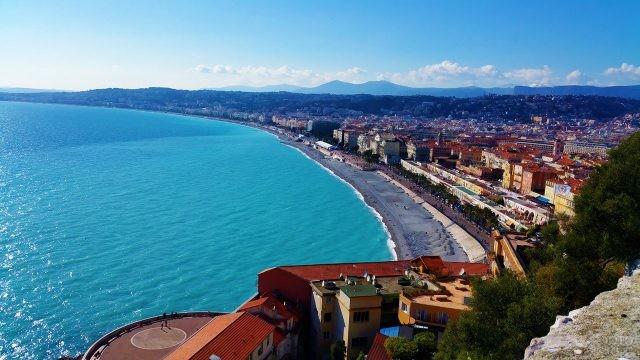 Панорама пляжей Ниццы