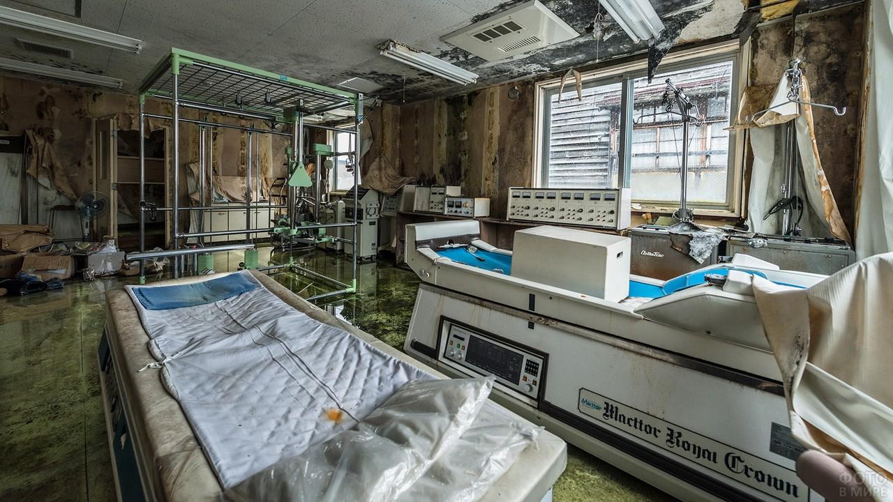 Медицинское помещение заброшенной больницы