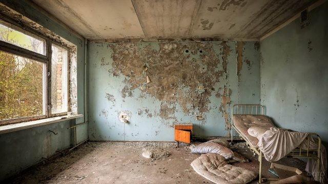 Палата в больнице Припяти