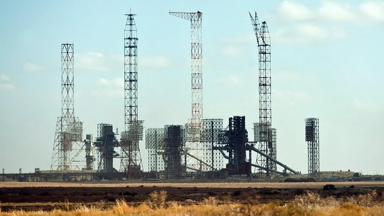 Сооружения на территории космодрома