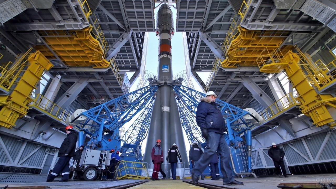 Вид ракеты снизу