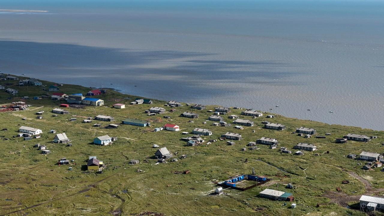 Посёлок Бугрино на острове Колгуев