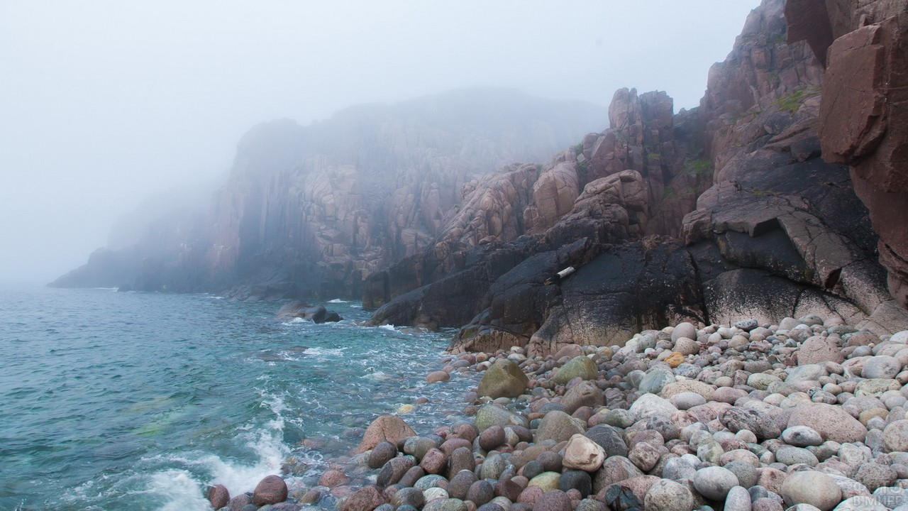 Туман на берегу Териберки