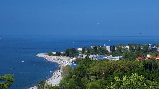 Панорамный вид на Чёрное море и его окрестности