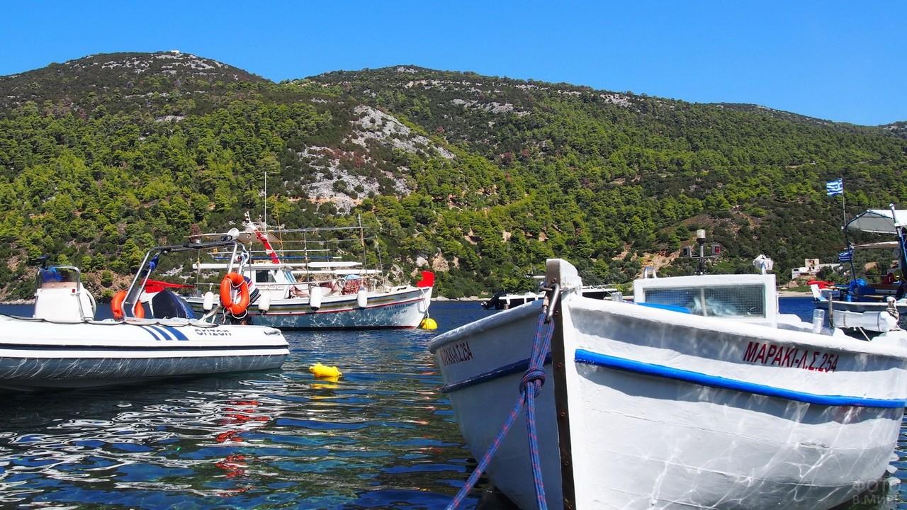 Лодки в море возле острова