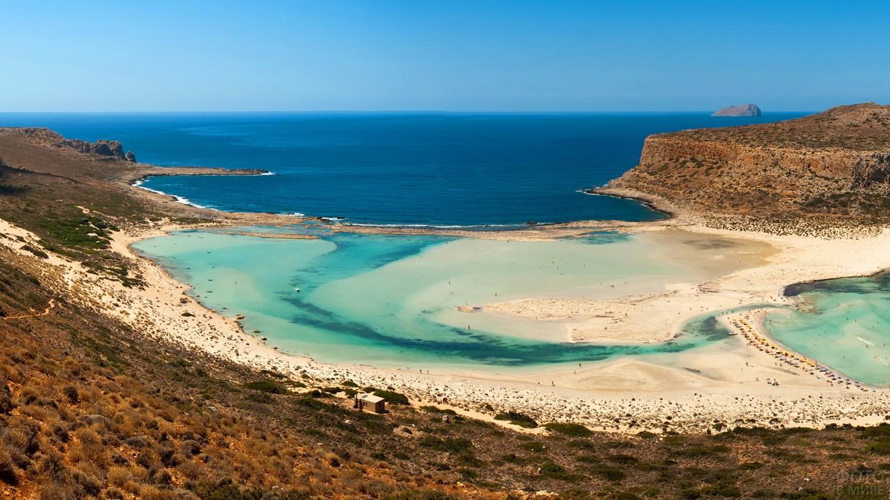 Остров Крит в Эгейском море