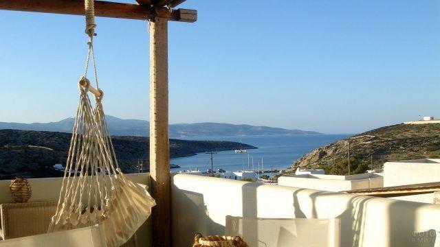 Вид с террасы на Эгейское море