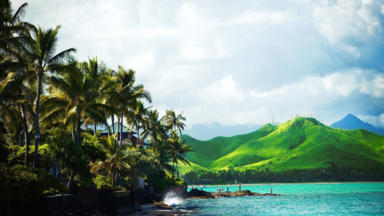 Пейзаж острова Оаху
