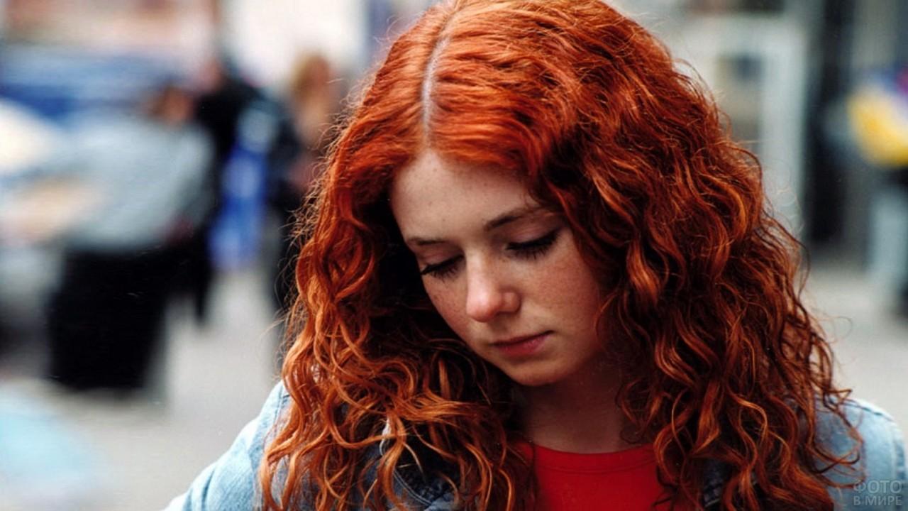 Елена Катина на городской улице