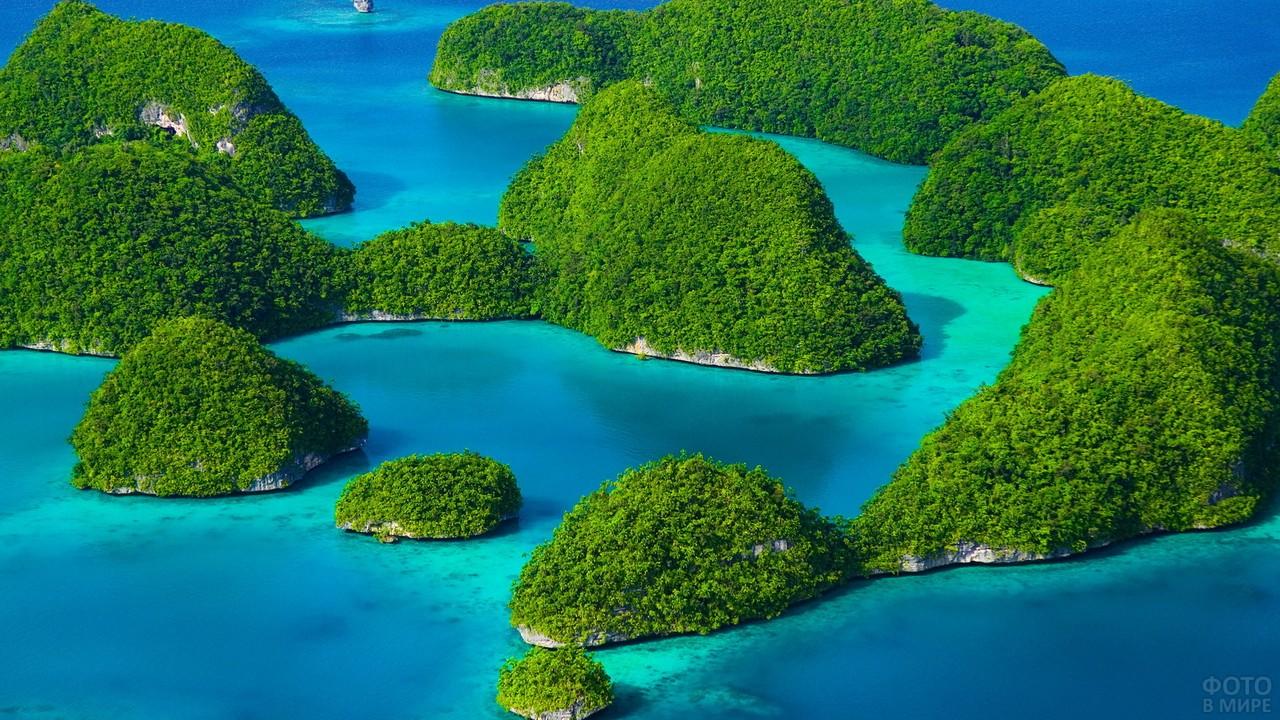Архипелаг Палау в Океании