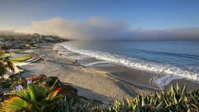 Калифорнийский пляж сверху