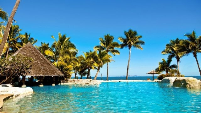 Красивое место отдыха на Фиджи